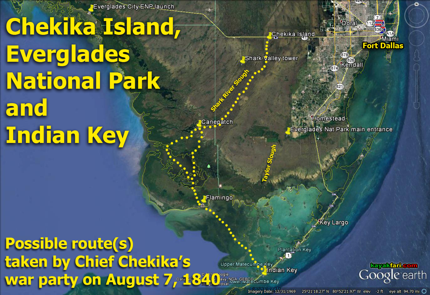 Chief Chekikas Not So Secret Island Hideaway In The Everglades - Florida map everglades city