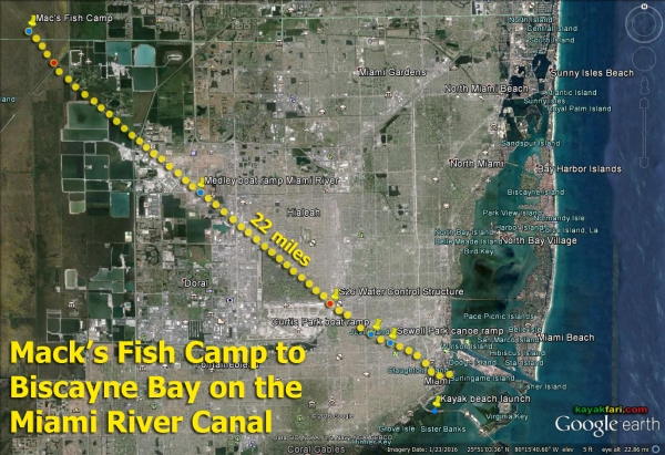 Flex Maslan kayak Miami river kayakfari paddle Biscayne bay south florida photography scenic history shipyard urban canal satellite