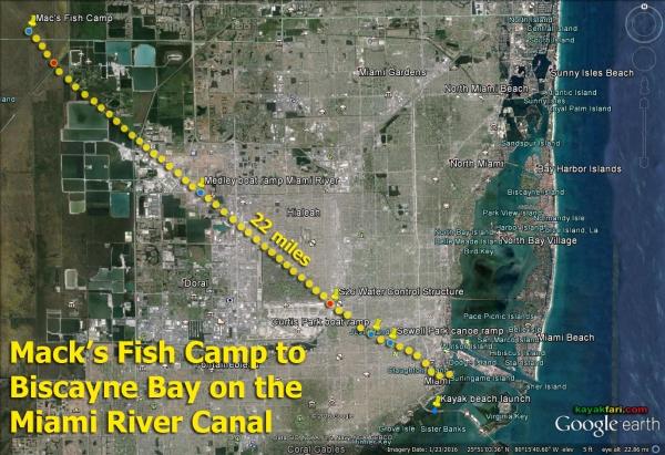 Flex Maslan kayak Miami river kayakfari paddle Biscayne bay south florida photography scenic history shipyard urban canal satellite