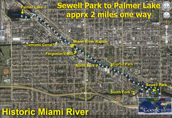 Flex Maslan kayak Miami river kayakfari paddle Biscayne bay south florida photography scenic history shipyard urban rapids satellite
