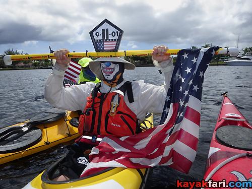 Flex Maslan kayak ft lauderdale kayakfari 911 heroes tribute paddle remember never forget usa 2016