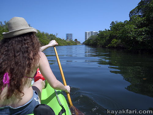Flex Maslan kayak Whiskey Creek John Lloyd kayakfari snorkel beach florida Mizell-Johnson park paddle urban