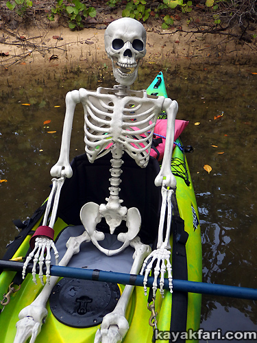 Flex Maslan halloween kayak skeleton kayakfari whiskey creek paddle art corpse dead Kaya Kay Dania beach adventure photography