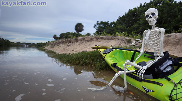 Flex Maslan halloween kayak skeleton kayakfari whiskey creek paddle art corpse dead Kaya Kay Dania beach adventure