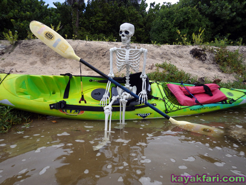 Flex Maslan halloween kayak skeleton kayakfari whiskey creek paddle art corpse dead Kaya Kay Dania beach adventure