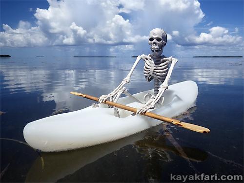 Flex Maslan kayakfari everglades florida bay kayak halloween art photography sky paddle skeleton humor dead