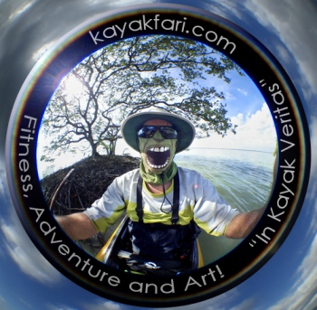 Flex Maslan Kayakfari Fisheye photography kayak everglades art adventure fitness panorama veritas aerial