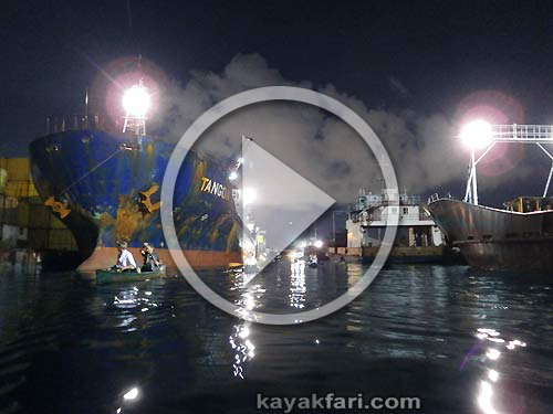 Flex Maslan Miami River night kayakfari paddle kayak canoe ships history Amerikas Flüsse documentary ARTE TV Katja Esson