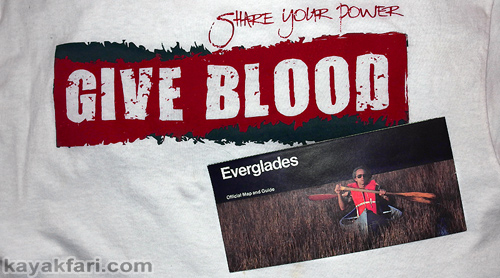 Flex Maslan canoe Kayak Everglades kayakfari give blood mosquito humor