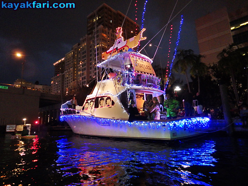 Flex Maslan Kayak Winterfest Boat Parade Christmas lights LED kayakfari Ft Lauderdale Holidays paddle photography 2016