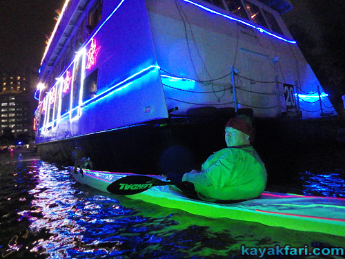 Flex Maslan Kayak Winterfest Boat Parade Christmas lights LED kayakfari Ft Lauderdale Holidays paddle photography whitney turner