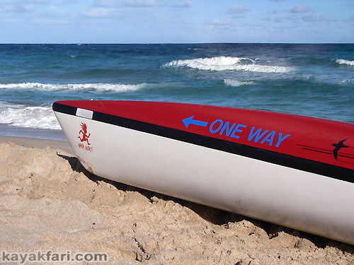 Flex Maslan Florida kayakfari surfski kayak miami Adventure Art Fitness ft lauderdale beach one way shearwater ocean