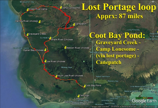 Flex Maslan kayakfari lost portage canepatch lonesome everglades kayak canoe shark river slough camp backcountry paddle wilderness mangrove satellite