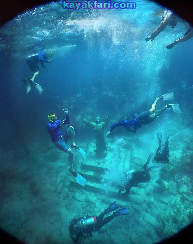Flex Maslan kayak Jesus Christ statue Reef kayakfari key largo dry rocks paddle keys dive snorkel abyss Pennekamp rtm disco