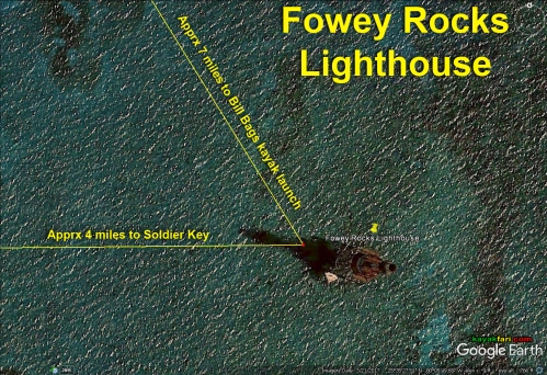 Flex Maslan Kayak Miami photography kayakfari fowey rocks lighthouse Soldier Key Cape Florida paddle biscayne sombrero satellite