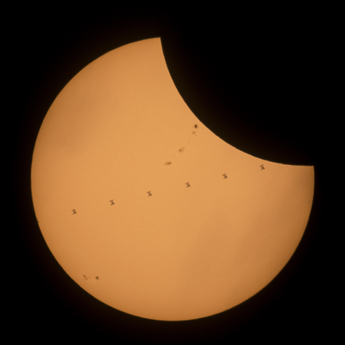 Sun; Transit; Wyoming; International Space Station (ISS); NASA / Joel Kowsky