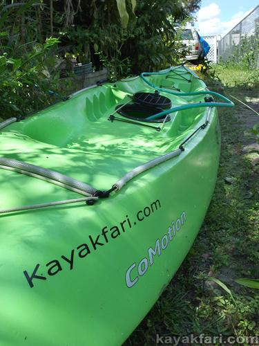 Flex Maslan kayakfari hurricane irma kayak storage miami safety storm water garden hose