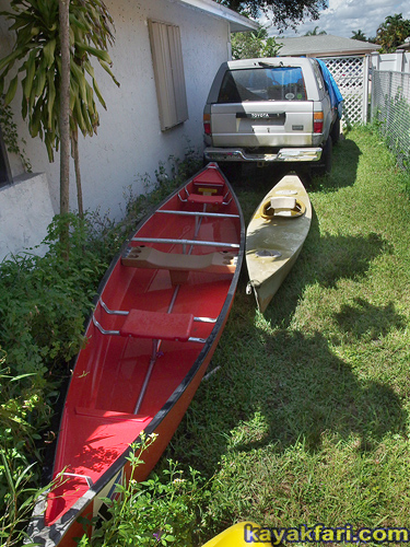 Flex Maslan kayakfari hurricane irma kayak storage miami safety storm water garden hose