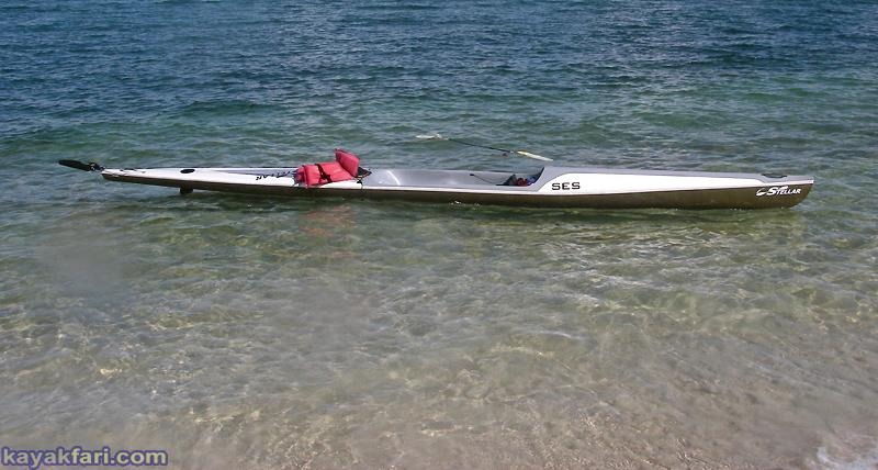 Flex Maslan Miami kayakfari stellar surfski kayak biscayne bay virginia key vkoc paddle ses
