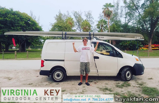 Virginia Key Outdoor Center Miami vkoc kayakfari stellar ses surfski kayak paddle flex maslan biscayne bay