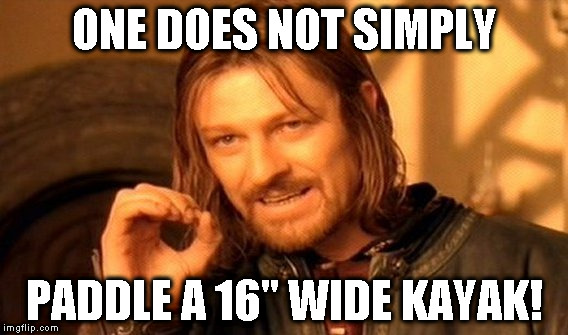 flex maslan kayakfari one does not simply kayak meme humor stellar ses surfski miami vkoc imgflip.com