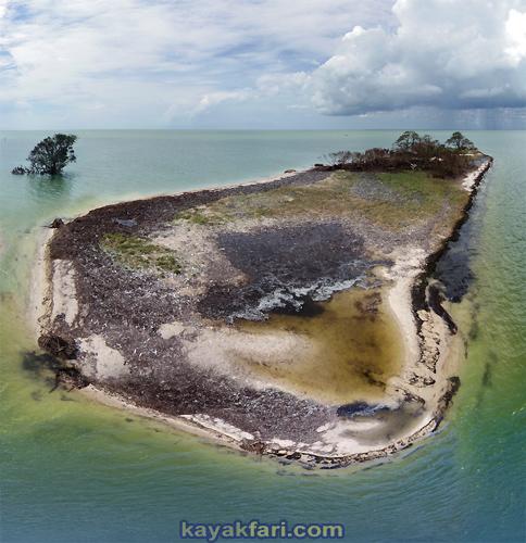 flex maslan kayakfari everglades hurricane Irma impact damage erosion kayak carl ross key photography aerial paddle florida bay
