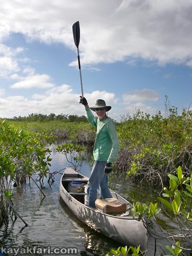 flex maslan kayakfari everglades mahogany hammock lane bay kayak canoe paddle pahayokee off-trail mangrove grass