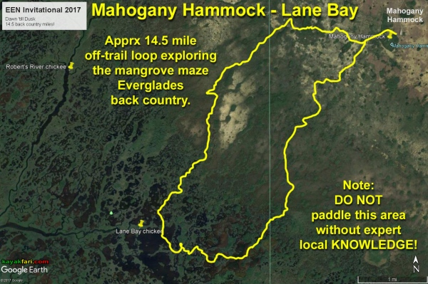 flex maslan kayakfari everglades mahogany hammock lane bay kayak canoe paddle pahayokee off-trail mangrove grass satellite