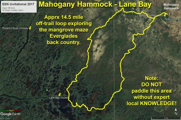 flex maslan kayakfari everglades mahogany hammock lane bay kayak canoe paddle pahayokee off-trail mangrove grass satellite
