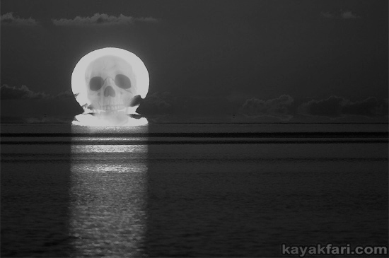 Flex Maslan kayakfari johnson key chickee everglades kayak camp skeleton nightmare kaya kay christmas photography festivus