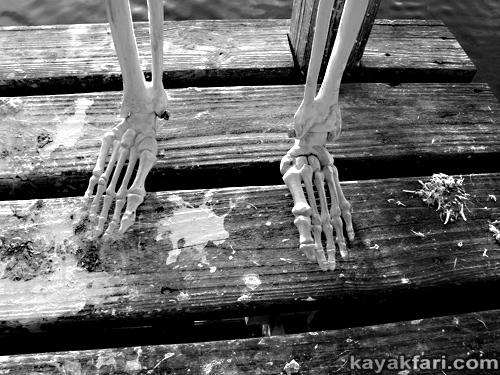 Flex Maslan kayakfari johnson key chickee everglades kayak camp skeleton nightmare kaya kay christmas photography festivus