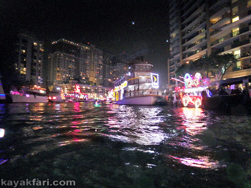 Flex Maslan Kayak Winterfest Boat Parade Christmas lights LED kayakfari Ft Lauderdale Holidays paddle photography 2017