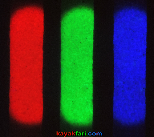 Flex Maslan kayakfari photography sub-pixel macro rgb crt tv color additive white light slot mask
