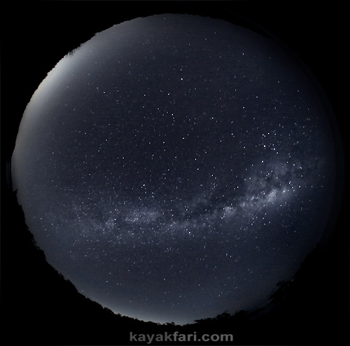 flex maslan everglades kayakfari photography milky way stars galaxy night dark sky fisheye backbone florida bay camp