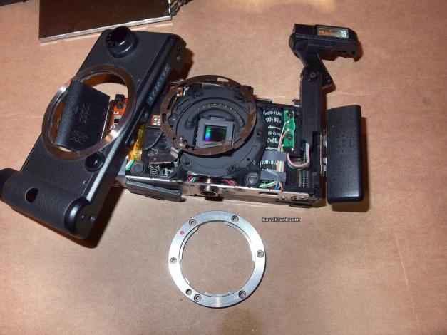 flex maslan kayakfari pentax q disassembly repair photo tech teardown lcd camera ilc replace