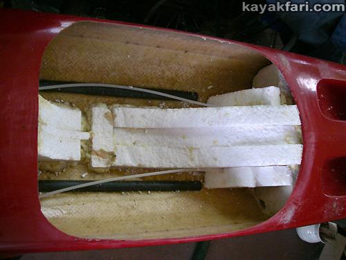 flex maslan kayakfari surfski findeisen shearwater resurrection repair stringer foam surgery florida