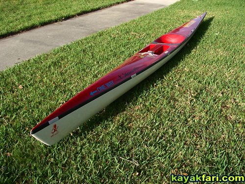 flex maslan kayakfari surfski findeisen shearwater resurrection repair stringer foam surgery florida kayak fitness paddle