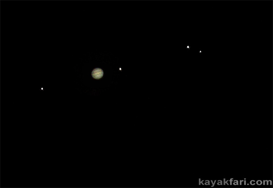 flex maslan everglades kayakfari jupiter photography night planet galileo moons Io Europa Ganymede Callisto 1000mm lens