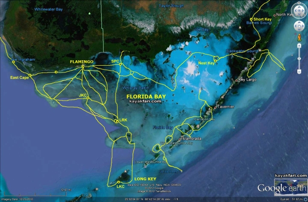 Flex Maslan kayakfari.com Florida Bay satellite route paddle Kayak Everglades kayakfari Camp canoe