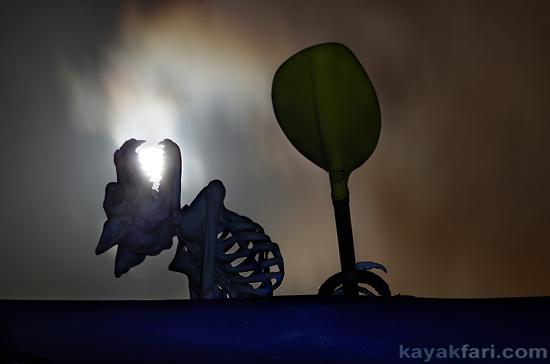 flex maslan halloween kayak skeleton kayakfari werewolf moon paddle howl everglades florida bay dead art