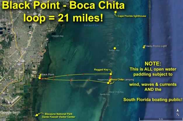 flex maslan Kayak miami kayakfari boca chita biscayne bay black point lighthouse photography sombrero paddle open water satellite