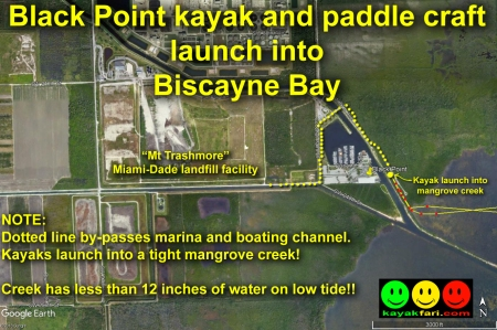 flex maslan Kayak miami kayakfari boca chita biscayne bay black point lighthouse photography sombrero paddle open water satellite