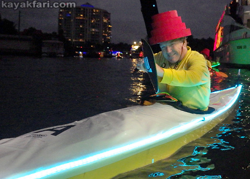 Flex Maslan Kayak Winterfest Boat Parade kayakfari Christmas lights Devo ft lauderdale 80s Holidays photography whitney turner
