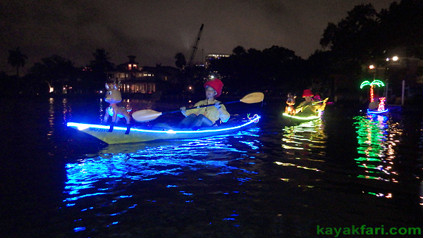 Flex Maslan Kayak Winterfest Boat Parade kayakfari Christmas lights Devo ft lauderdale 80s Holidays photography 2018