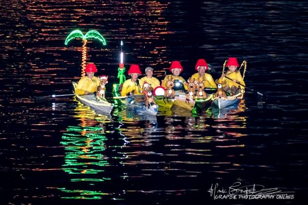 Flex Maslan Kayak Winterfest Boat Parade kayakfari Christmas lights Devo ft lauderdale 80s Holidays photography 2018 Howie Grapek