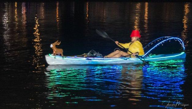 Flex Maslan Kayak Winterfest Boat Parade kayakfari Christmas lights Devo ft lauderdale 80s Holidays photography 2018 Janine Mangini