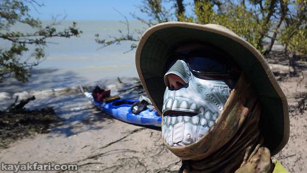 Flex Maslan kayak sun face protector kayakfari fantom mask everglades shade sunburn breathe skull florida hot paddle