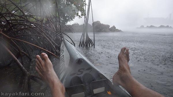 flex maslan kayakfari paddling florida kayak summer storms squall dania surfski rain port everglades mangrove