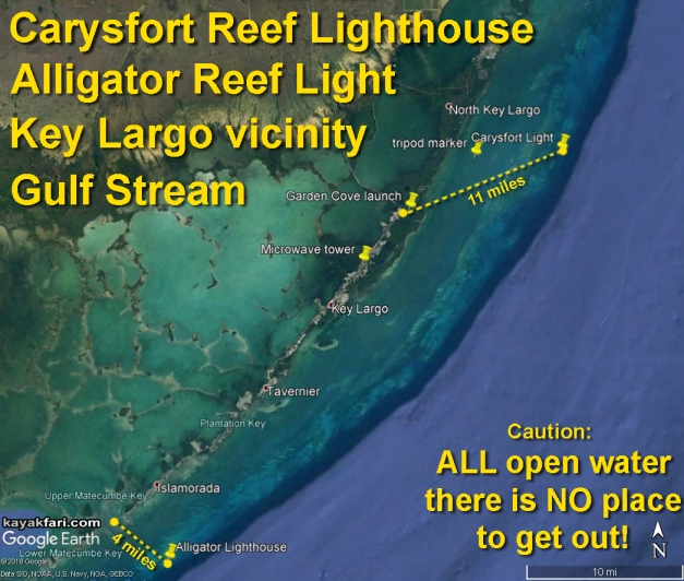 flex maslan Kayakfari carysfort reef lighthouse kayak paddle key largo pennekamp dive coral history photography surfski park platform satellite