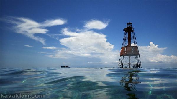 flex maslan Kayakfari carysfort reef lighthouse kayak paddle key largo pennekamp dive coral history photography surfski park